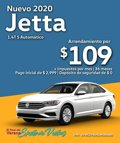 Nuevo 2020 Volkswagen Jetta S Automático