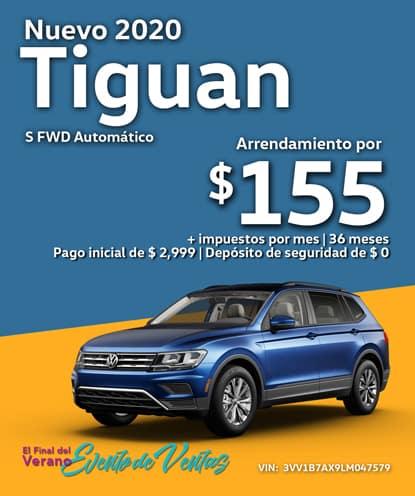 Nuevo 2020 Volkswagen Tiguan S FWD Automático