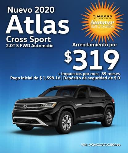 Nuevo 2020 Volkswagen Atlas Cross Sport 2.0T S Automático