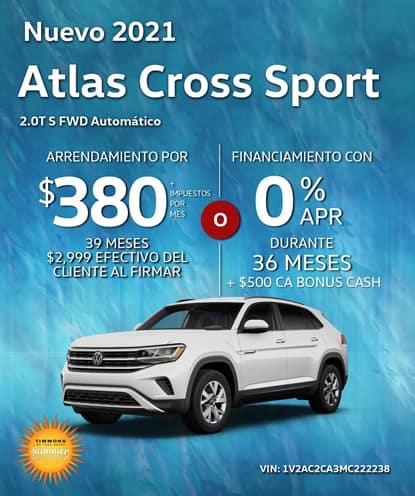 Nuevo 2021 Volkswagen Atlas Cross Sport 2.0T S FWD Automático