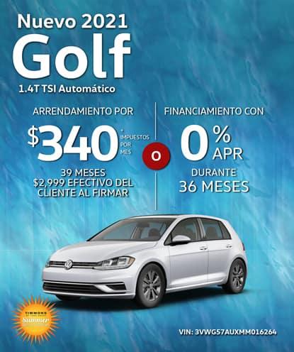 Nuevo 2021 Volkswagen Golf S Automático