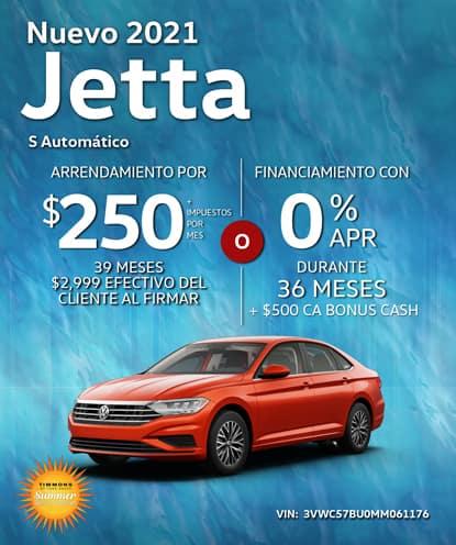 Nuevo 2021 Volkswagen Jetta S Automático