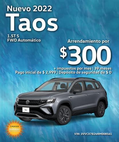 Nuevo 2022 Volkswagen Taos 1.5T S FWD Automático