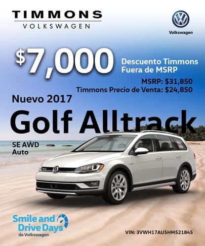 Nuevo 2017 Golf Alltrack SE AWD Automático