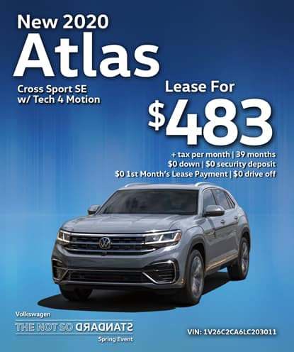 All-New 2020 Volkswagen Atlas Cross Sport with Tech 4Motion Automatic