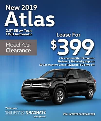 New 2019 Volkswagen Atlas 2.0T SE with Tech FWD Automatic