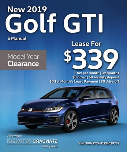 New 2019 Volkswagen Golf GTI S Manual