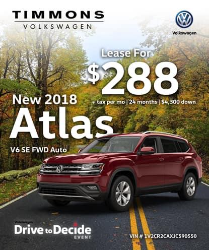 New 2018 Volkswagen Atlas 3.6 V6 SE FWD Automatic