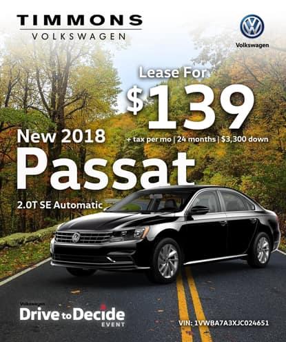 New 2018 Volkswagen Passat 2.0T SE Automatic