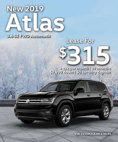 New 2019 Volkswagen Atlas 3.6 SE FWD Automatic