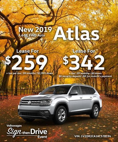 New 2019 Volkswagen Atlas 3.6 SE FWD Automatic