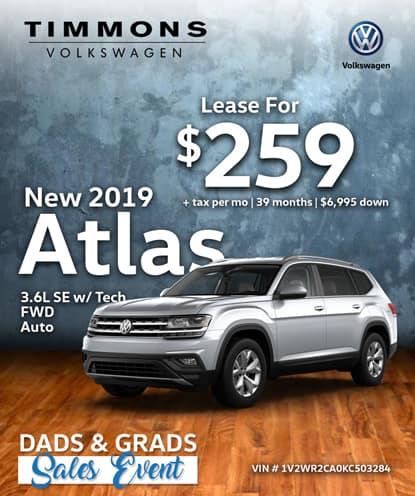 New 2019 Volkswagen Atlas 3.6 SE W/ Tech FWD
