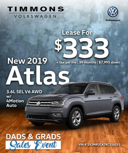 New 2019 Volkswagen Atlas 3.6L SEL with 4Motion AWD