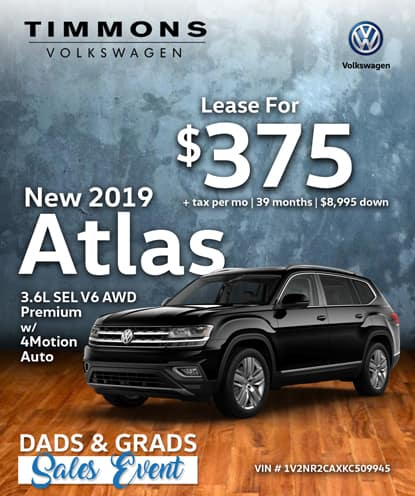 New 2019 Volkswagen Atlas 3.6L SEL Premium with 4Motion AWD