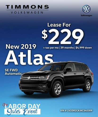 New 2019 Volkswagen Atlas SE FWD Automatic