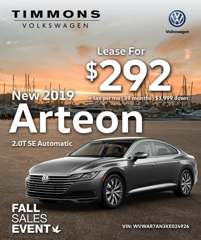 New 2019 Volkswagen Arteon 2.0T SE FWD Automatic