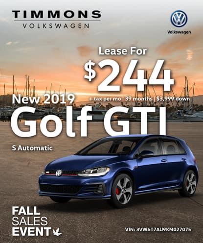 New 2019 Volkswagen Golf GTI S Automatic