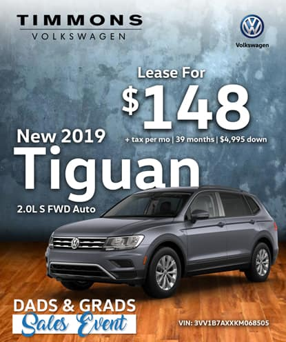 New 2019 Tiguan S FWD Automatic