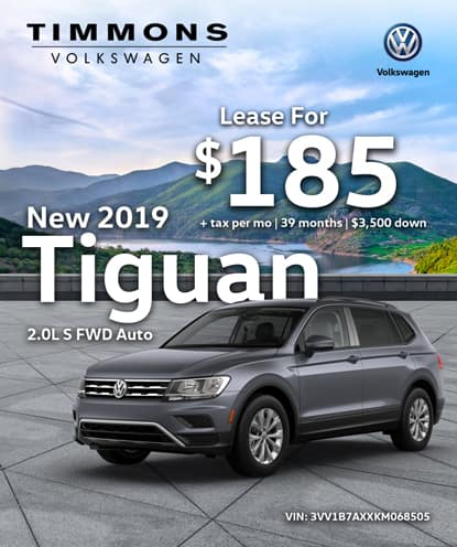 New 2019 Tiguan 2.0T S FWD Automatic