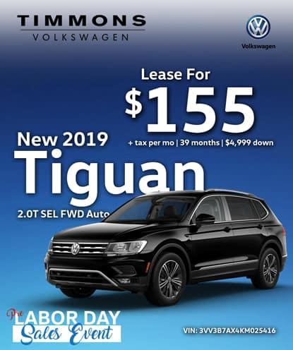 New 2019 Volkswagen Tiguan 2.0T SEL FWD Automatic