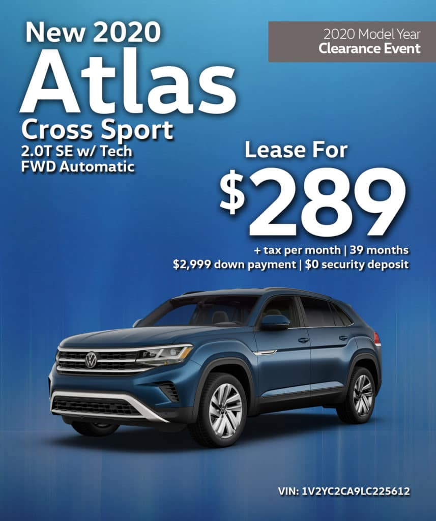 New 2020 Volkswagen Atlas Cross Sport 2.0T S FWD Automatic