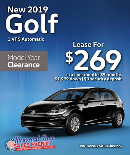 New 2019 Golf S FWD Automatic