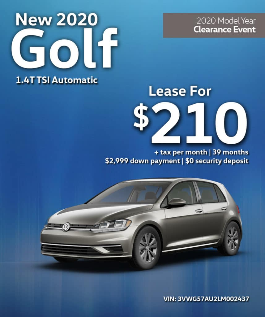 New 2020 Golf 1.4T TSI FWD Automatic