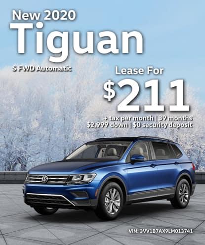 New 2020 Volkswagen Tiguan S FWD Automatic