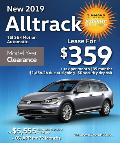 New 2019 Volkswagen Alltrack TSI SE 4Motion Automatic