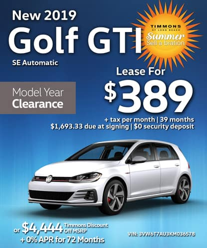New 2019 Volkswagen Golf GTI SE  Automatic