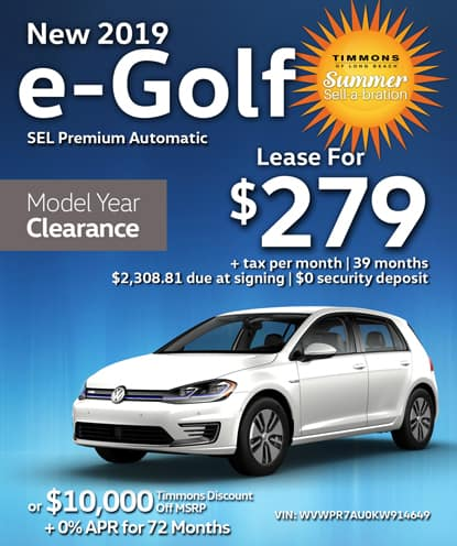 New 2019 e-Golf SEL Premium FWD Automatic