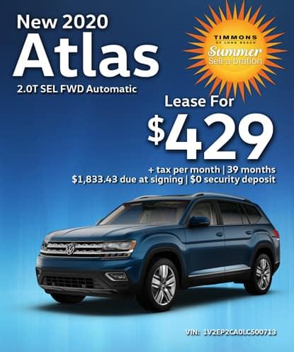 New 2020 Volkswagen Atlas SEL FWD Automatic