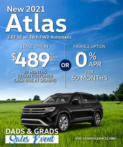New 2021 Volkswagen Atlas SE w/ Tech FWD Automatic