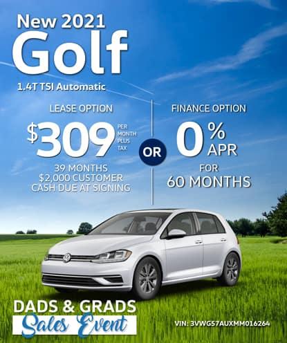 New 2021 Golf 1.4T TSI FWD Automatic