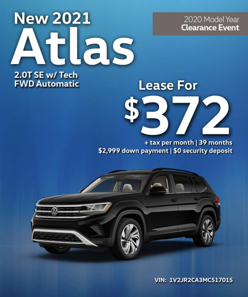 New 2021 Volkswagen Atlas SE w/ Tech FWD Automatic