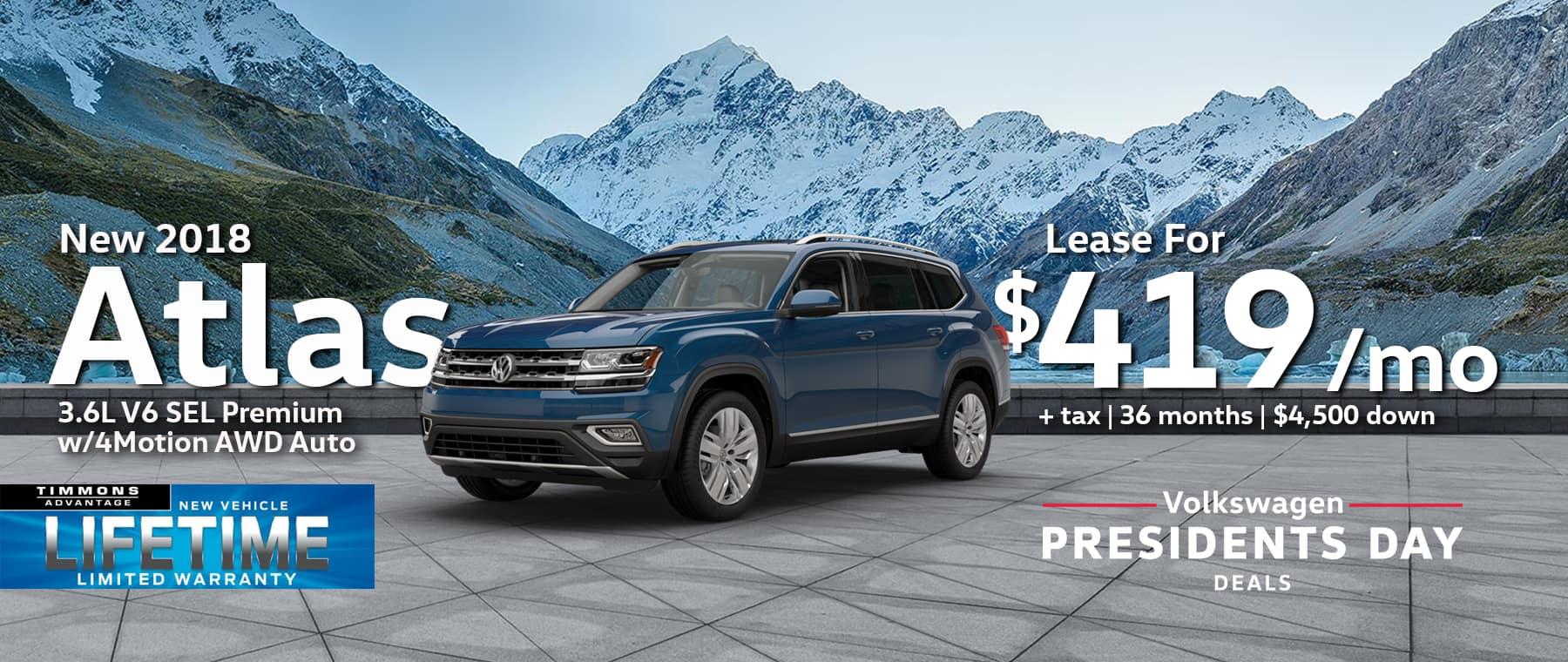2018 Volkswagen Atlas 3.6L V6 SEL Premium w/4Motion