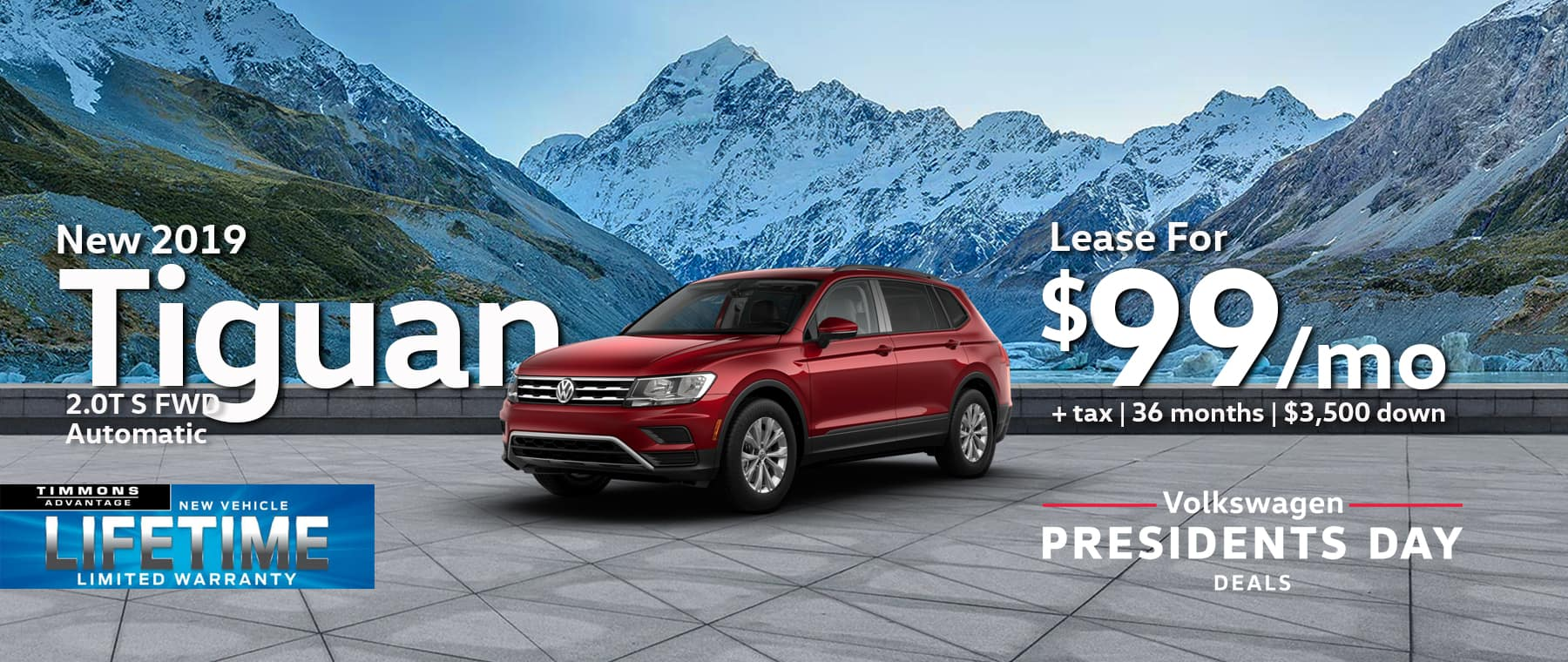Lease a new 2019 Tiguan S
