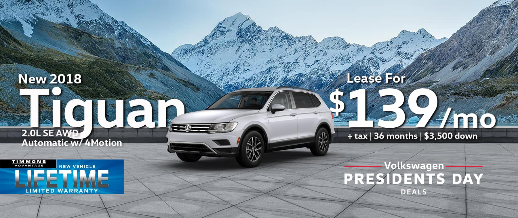 New 2018 Volkswagen Tiguan 2.0L SE AWD Automatic w/4MOTION
