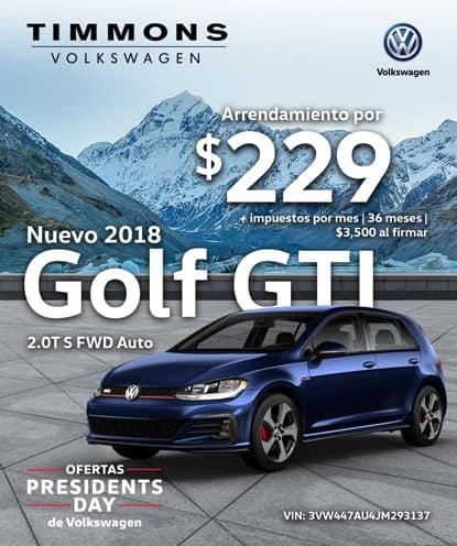 Nuevo 2018 Volkswagen GTI 2.0T S FWD Automático