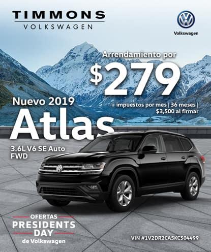 Nuevo 2019 Volkswagen Atlas 3.6L V6 SE FWD Automático