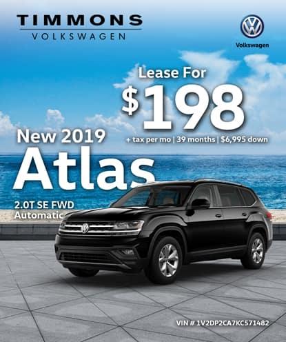 New 2019 Volkswagen Atlas 3.6L V6 SE FWD Automatic