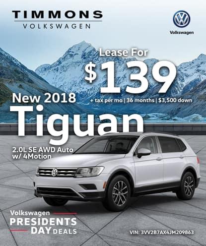 New 2018 Volkswagen Tiguan 2.0L SE AWD Automatic w/4MOTION