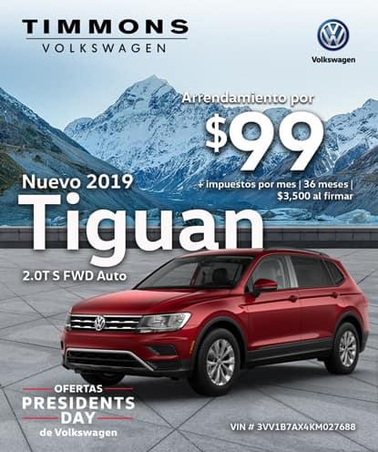 Nuevo 2019 Volkswagen Tiguan 2.0T S FWD Automático