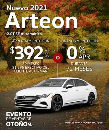 Nuevo 2021 Volkswagen Arteon 2.0T SE Automático