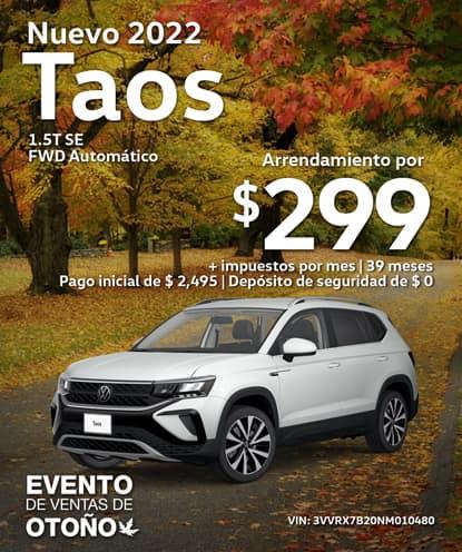 Nuevo 2022 Volkswagen Taos 1.5T SE FWD Automático