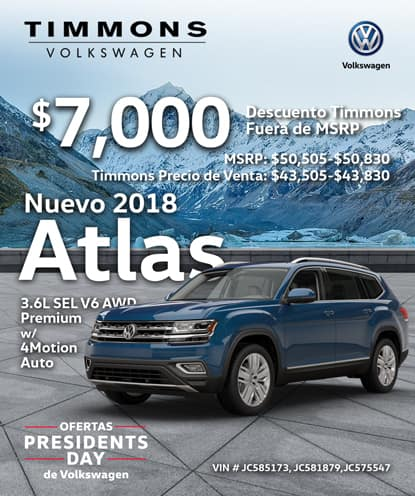Nuevo 2018 ATLAS V6 SEL PREMIUM 4MOTION AWD Automático