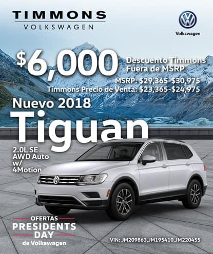 Nuevo 2018 TIGUAN SE 4MOTION AWD Automático