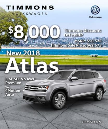 New 2018 Volkswagen Atlas 3.6L V6 SEL Premium w/4Motion AWD Automatic