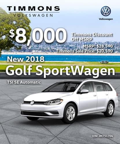 New 2018 Volkswagen Golf Sportwagen SE Automatic