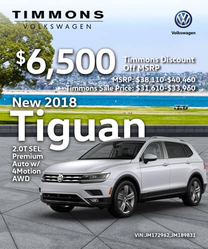 New 2018 Volkswagen Tiguan 2.0T SEL AWD Automatic w/4MOTION